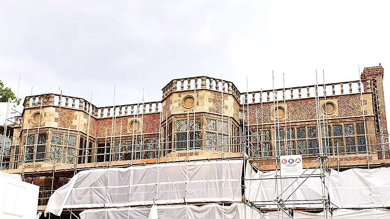 Astley Hall being revealed